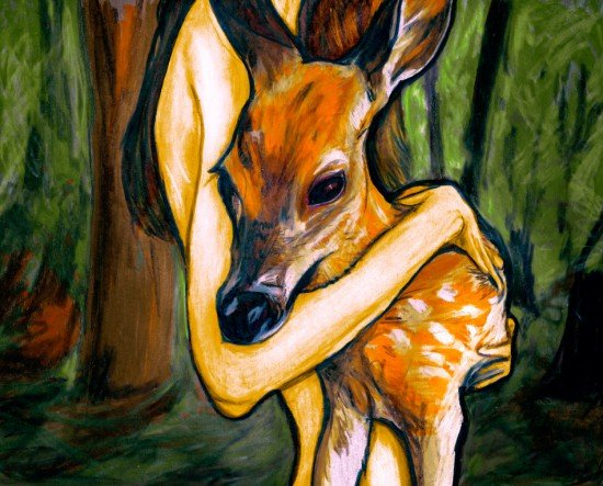 The Doe & Her Fawn