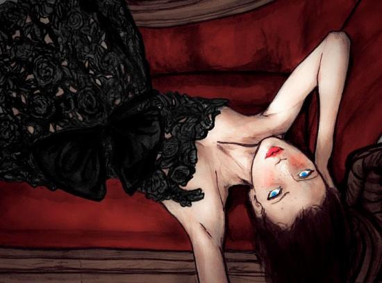 Red Lips + Valentino Dress