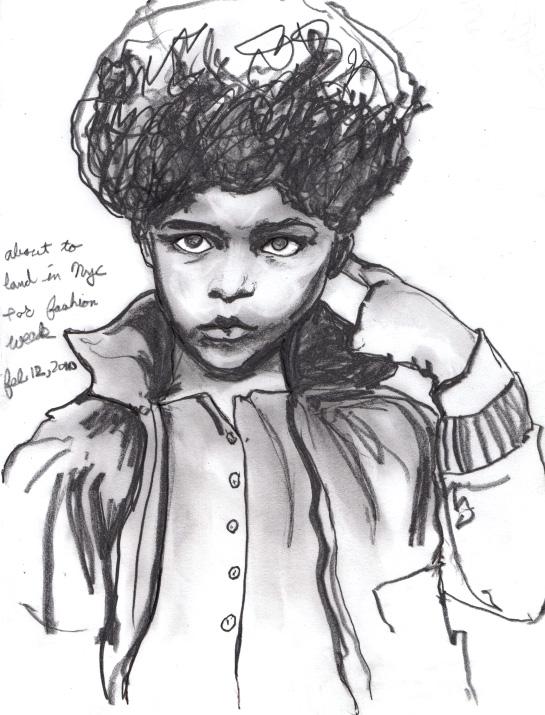 Plane Sketch of Vogue Enfants