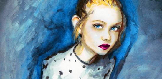 Elle Fanning Time-lapse Painting