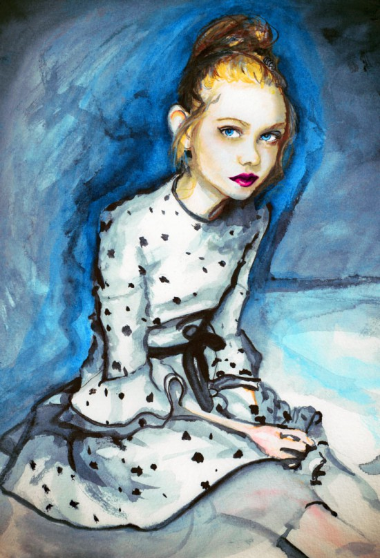 My Elle Fanning Painting