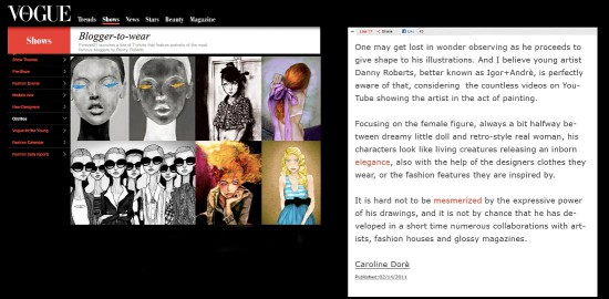 I'm Featured on Italian Vogue!