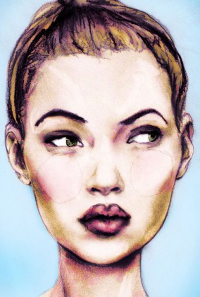 Portrait of Kate Moss at Age 17