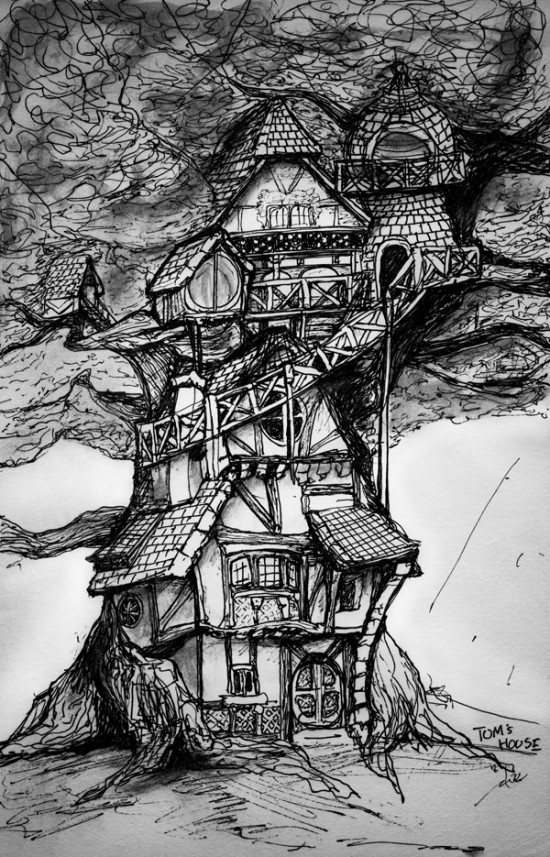 Story Book Concept Drawing of Tom's House