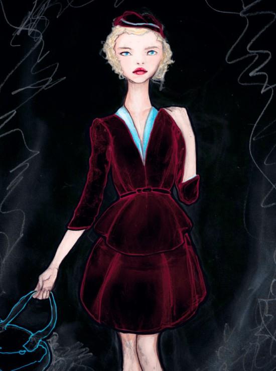 The Velvet Dress Girl
