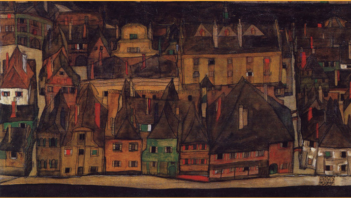 Inspiration friday Painting of colorful houses by austrian artist egon schiele