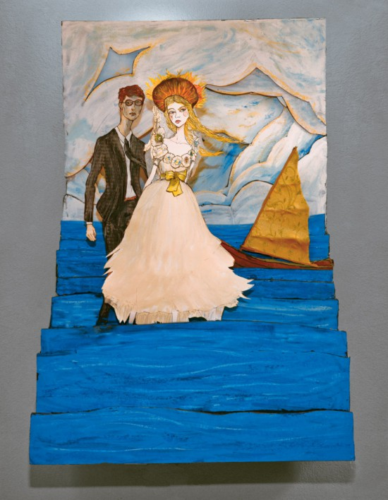 Lovers of the Sea Layered Art