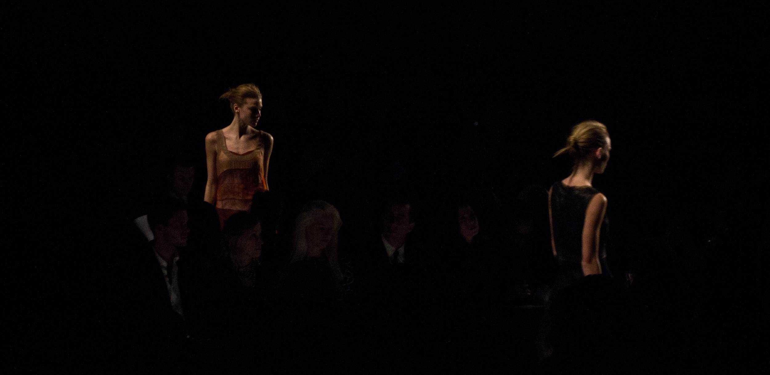 A still frame from David and Danny roberts of igorandandre short film from Narciso Rodriguez Fall 2011 fashion show