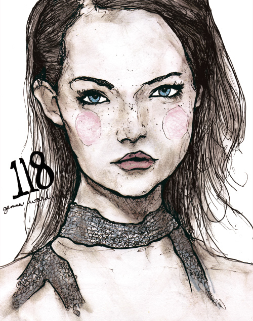 Gemma Ward Character Sketch Book 118