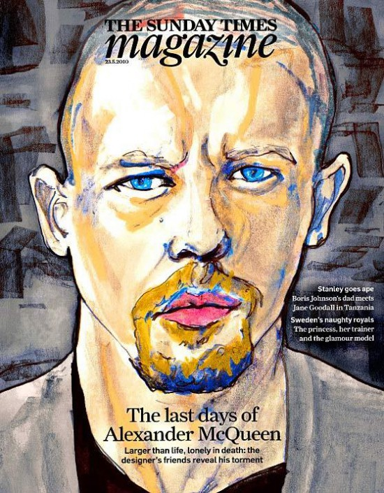 Alexander McQueen is Sunday Times Cover!