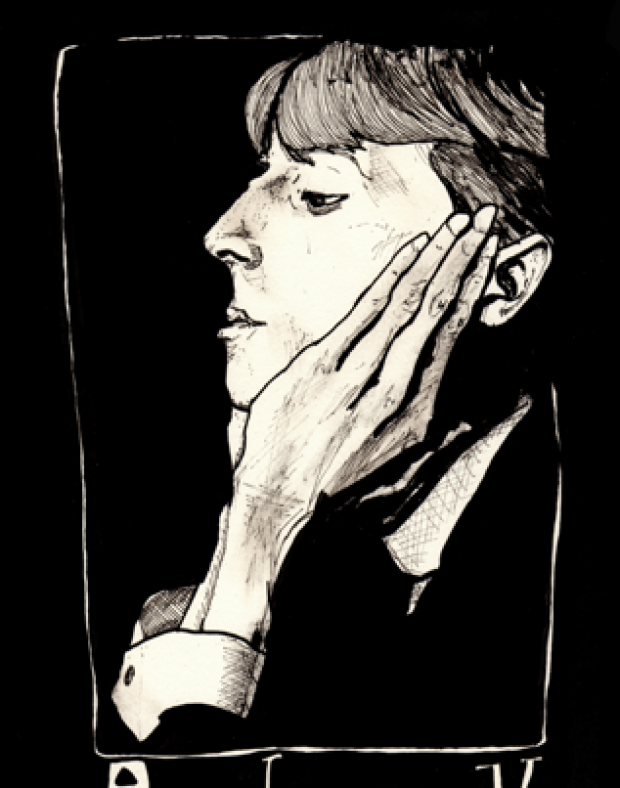 Danny Roberts Portrait of the Great 1800s Artist & Illustrator, Aubrey Beardsley