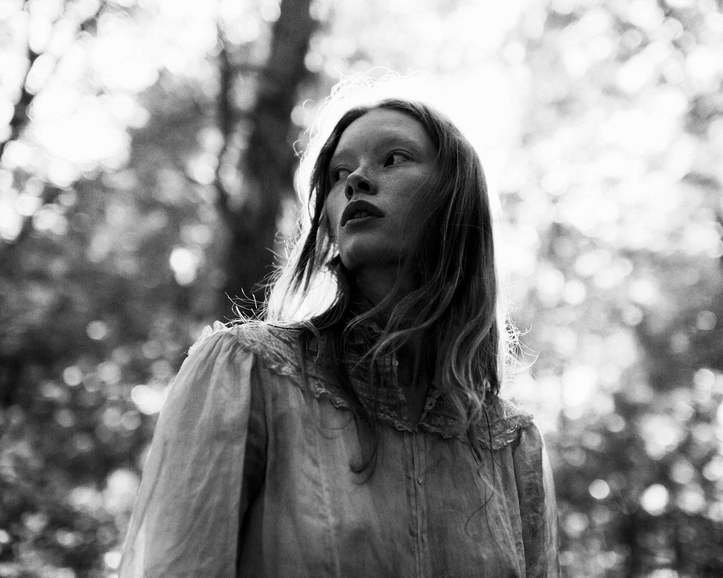 Artist Danny Roberts Photo of Julia Hafstrom in forest