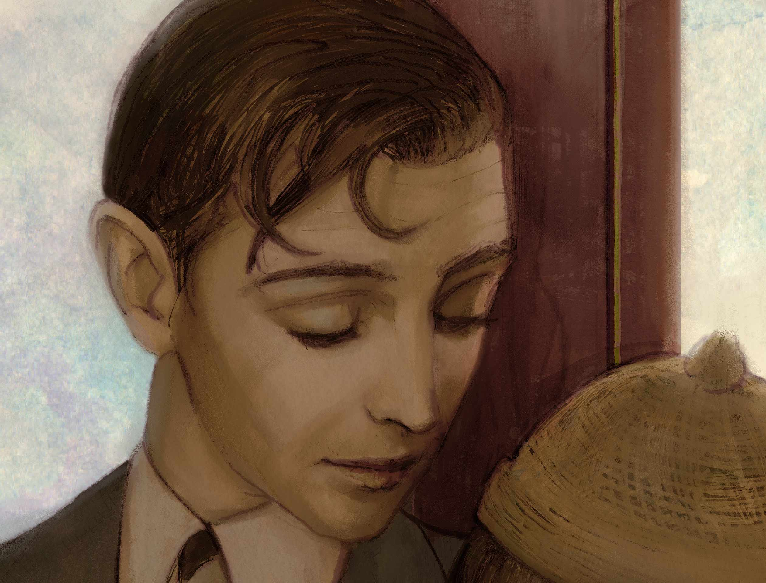 Close up Artist Danny Roberts Valentines Falling in Love it happened one night. Clark Gable