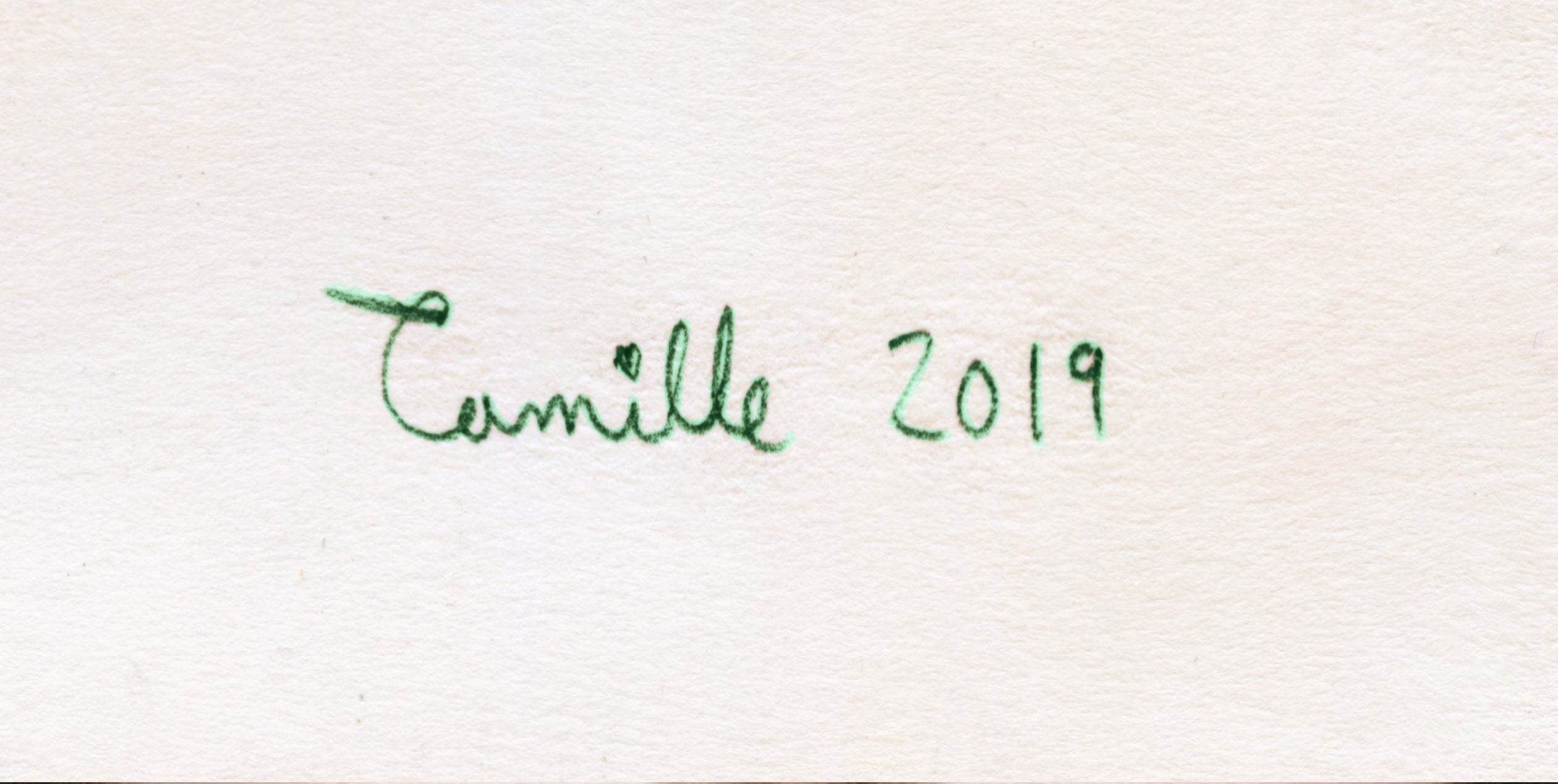 Hand writing Cursive Camille 2019