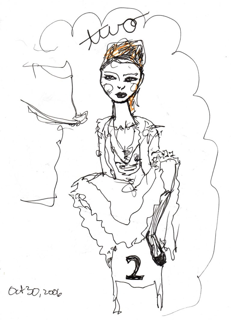 Full Page image of Artist Danny Roberts Print of Lily Cole Character sketchbook number 2