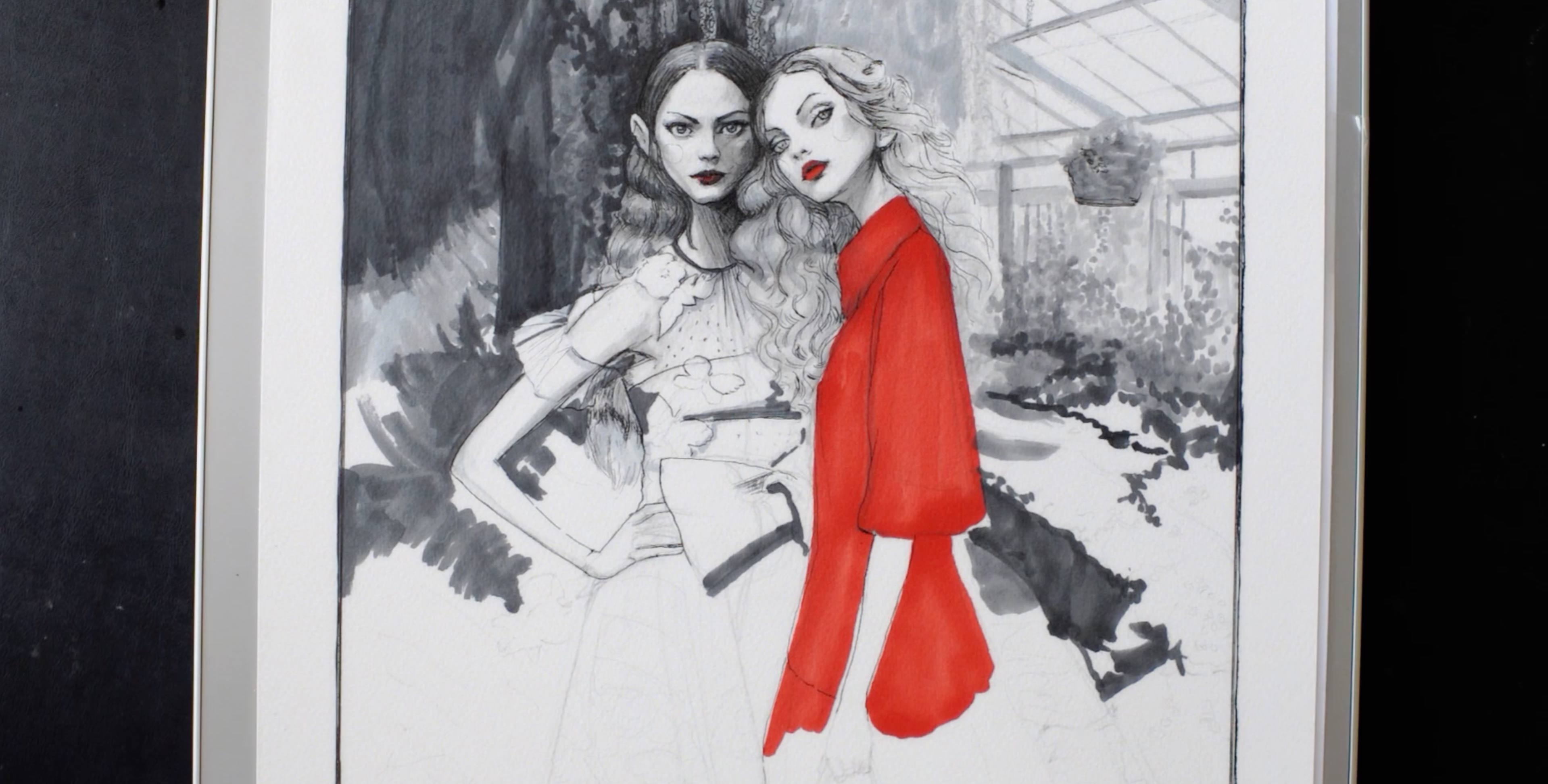 RedValentino Spring 2020 Danny Roberts Fashion Illlustration Timelapse Video
