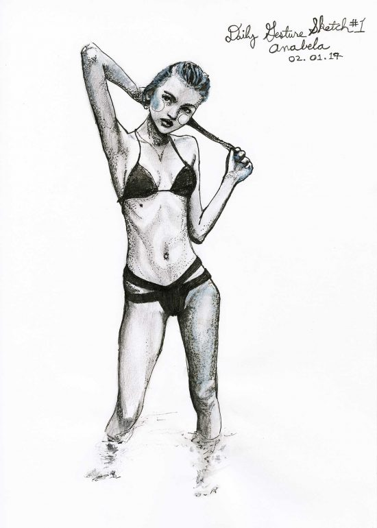 Anabela Belikava Study Sketch