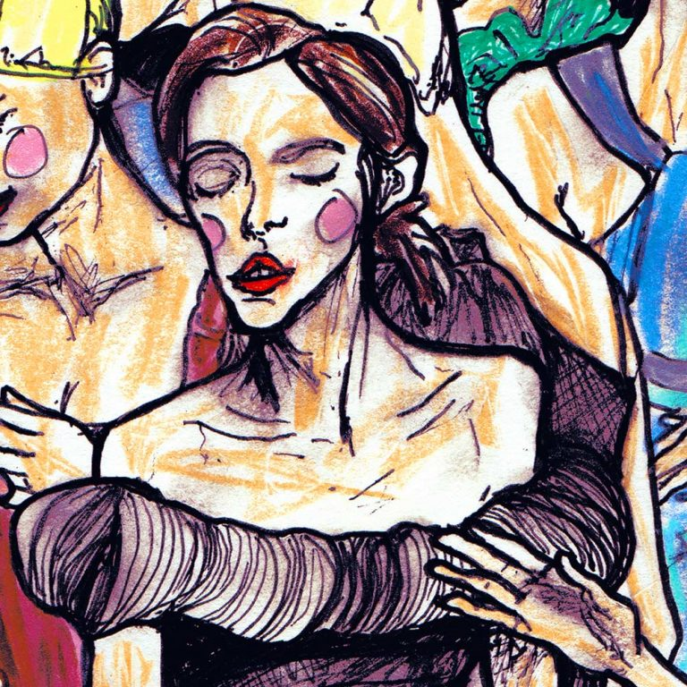 DancingGirls 5x5 inch Print Detail picture