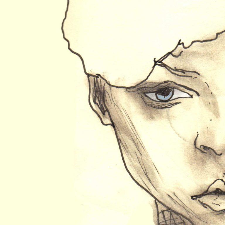 Sketchbook Whitehat girl 5x5 square prints details 3