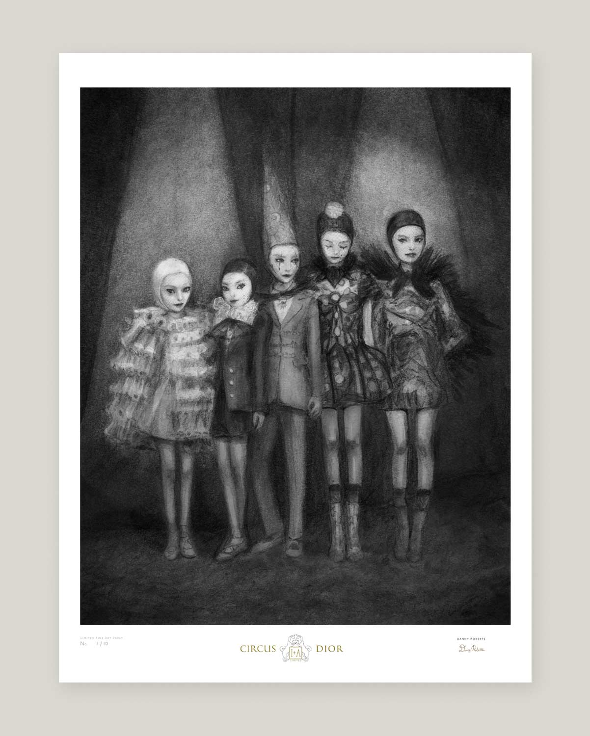 Artist Danny Roberts Circus Christian Dior limited edition Print