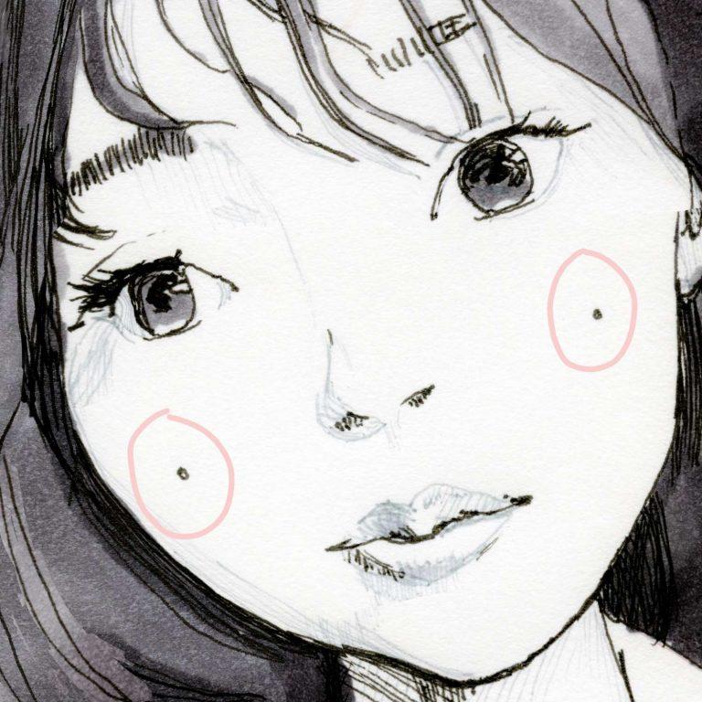 Yuki 加藤ナナ pink Study sketch square print Details 2
