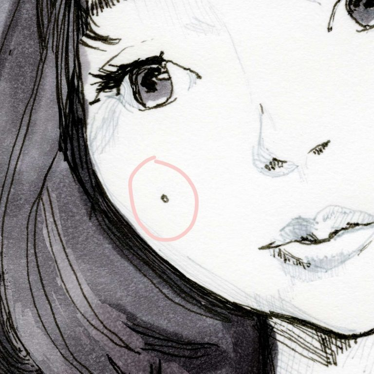 Yuki Nana Kato pink Study sketch square print Details