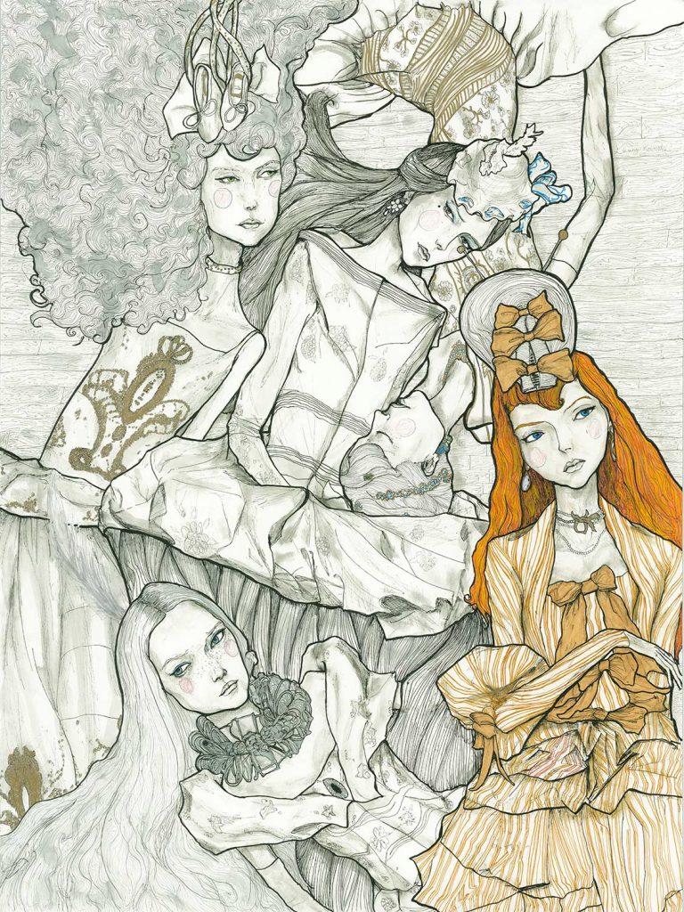 クリスチャンディオールコレクション限定版のアーティストダニーロバーツレディース。