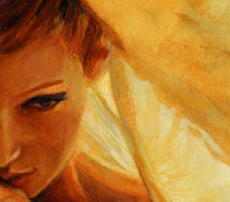 artist danny Roberts watercolor study of Mona Johannesson Face