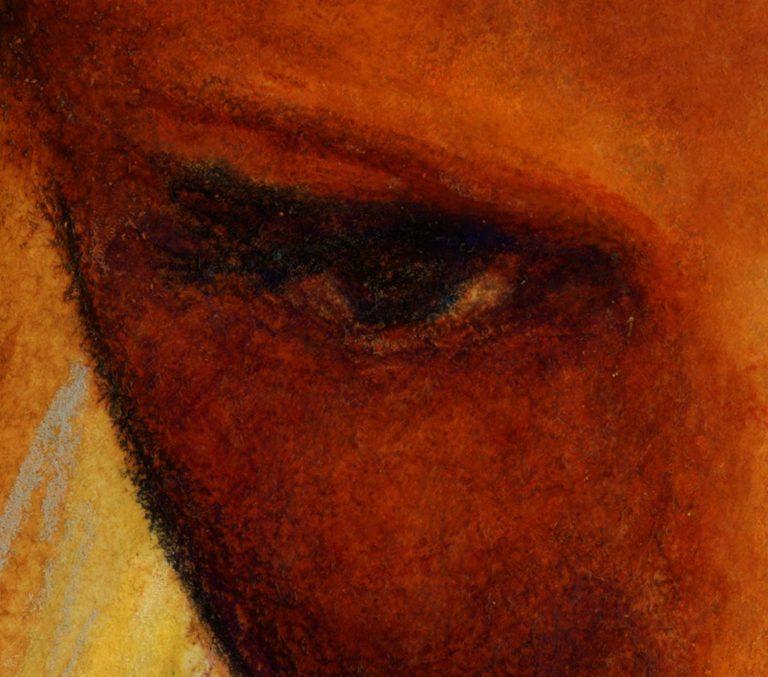 artist danny Roberts watercolor study of Mona Johannesson eye