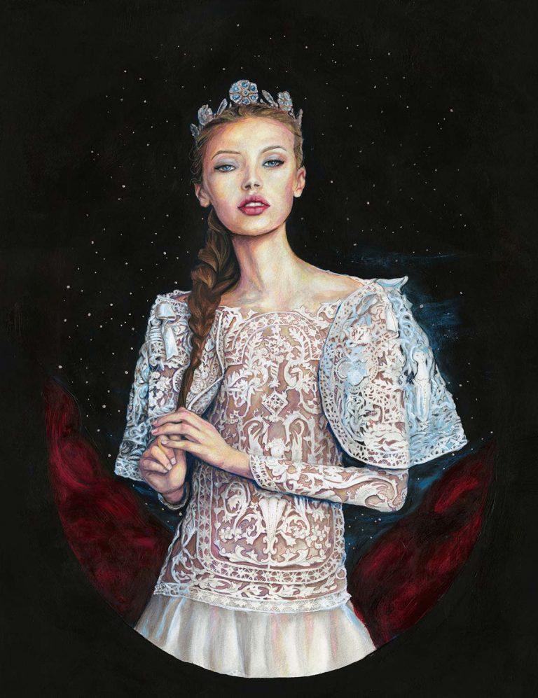 アーティストダニー・ロバーツプリンセス・ジョゼット・ロイヤル・ボール・マルケサ絵画としてのモナ・ヨハネセンのファッション・イラスト。
