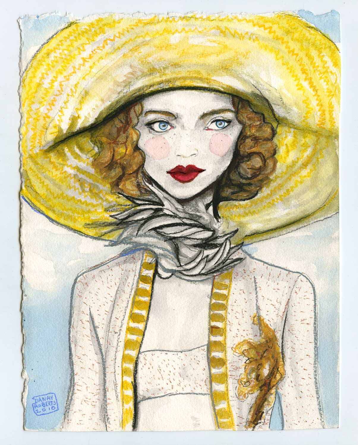 Water color painting was inspired by Marc Jacobs Spring 2011 Collection by Fashion illustrator Danny Roberts.