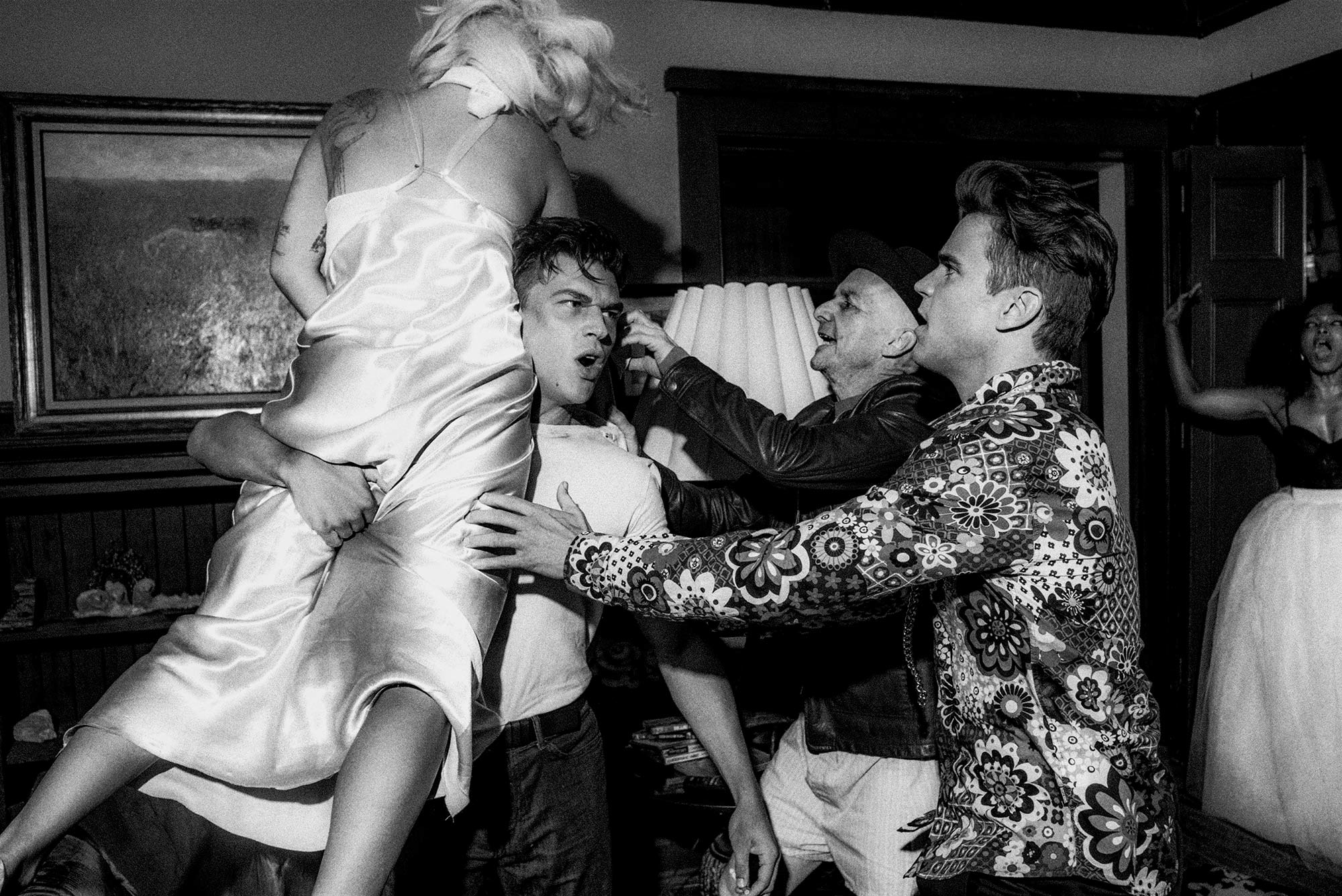 Lady Gaga, Wes Bentley, Matt Bomer, and AngelaBassett, and Denis Ohere for lady gaga v magazine shoot by Chadwick Tyler american horror show
