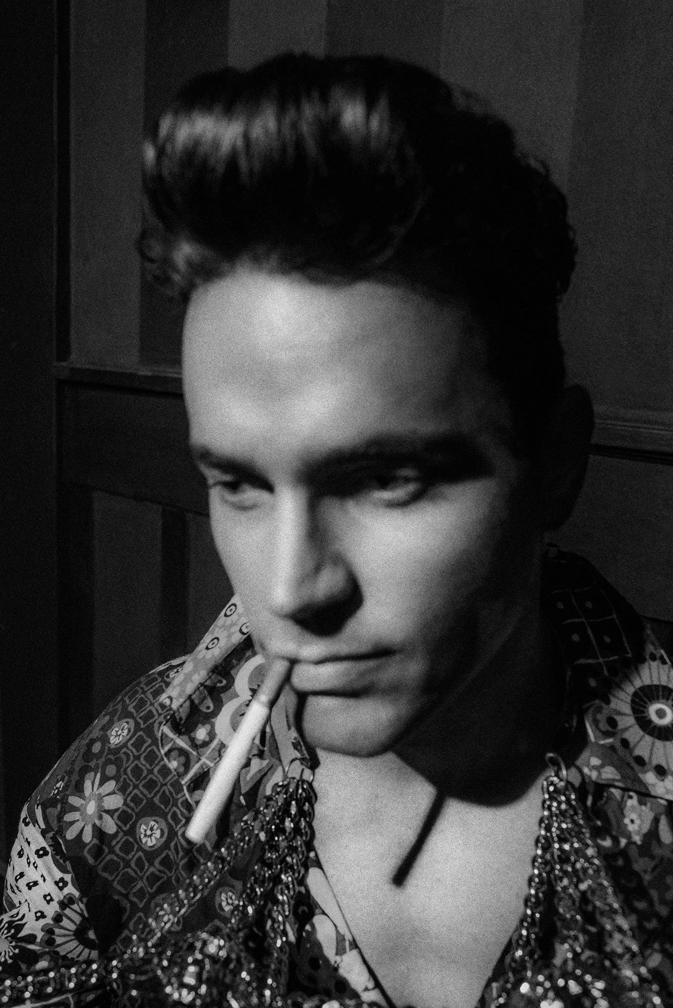 A Photo of Matt Bomer by artist danny Roberts for lady gaga v magazine shoot by Chadwick Tyler American