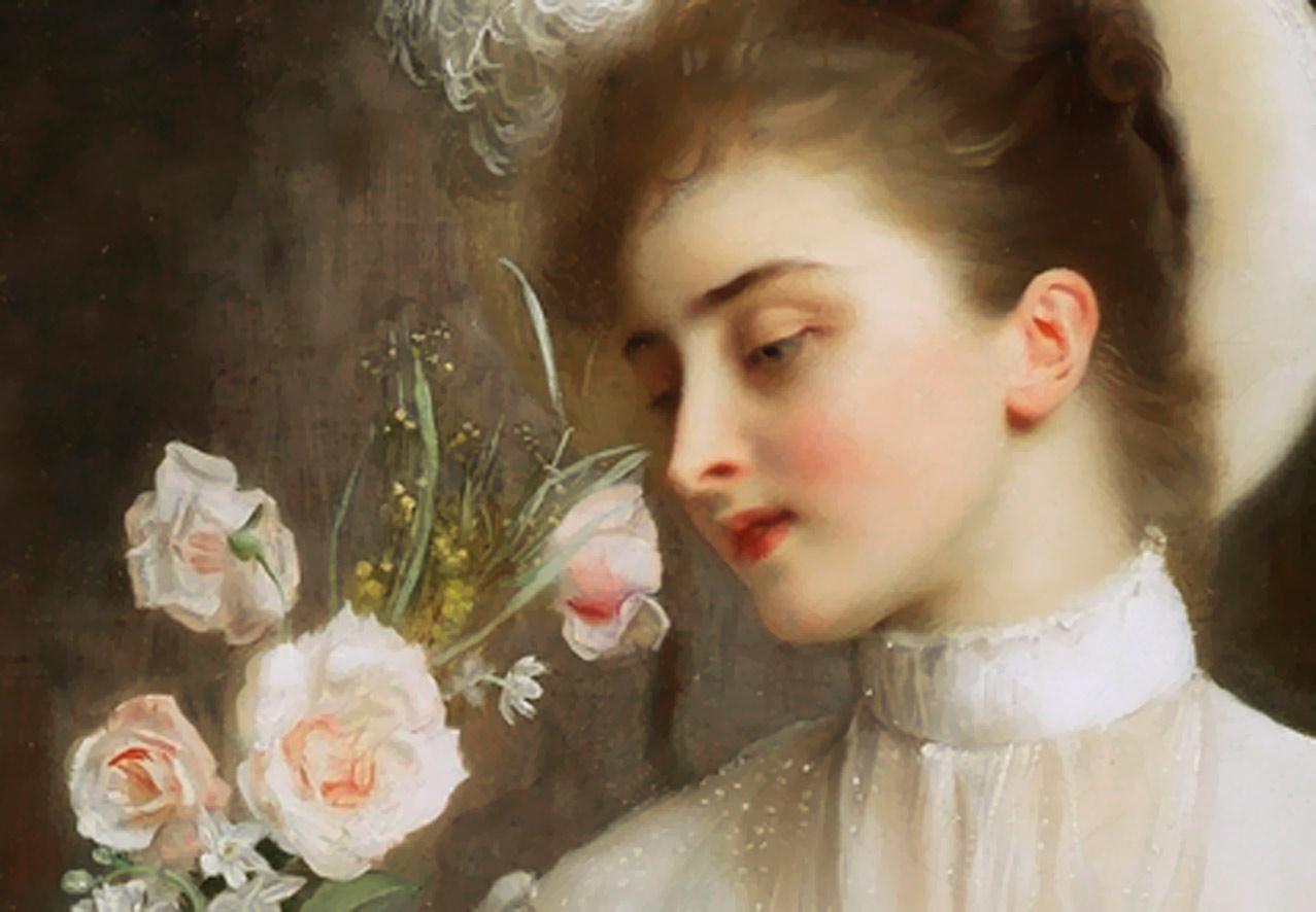 Elegant bouquet by Gustave Jean Jacquet