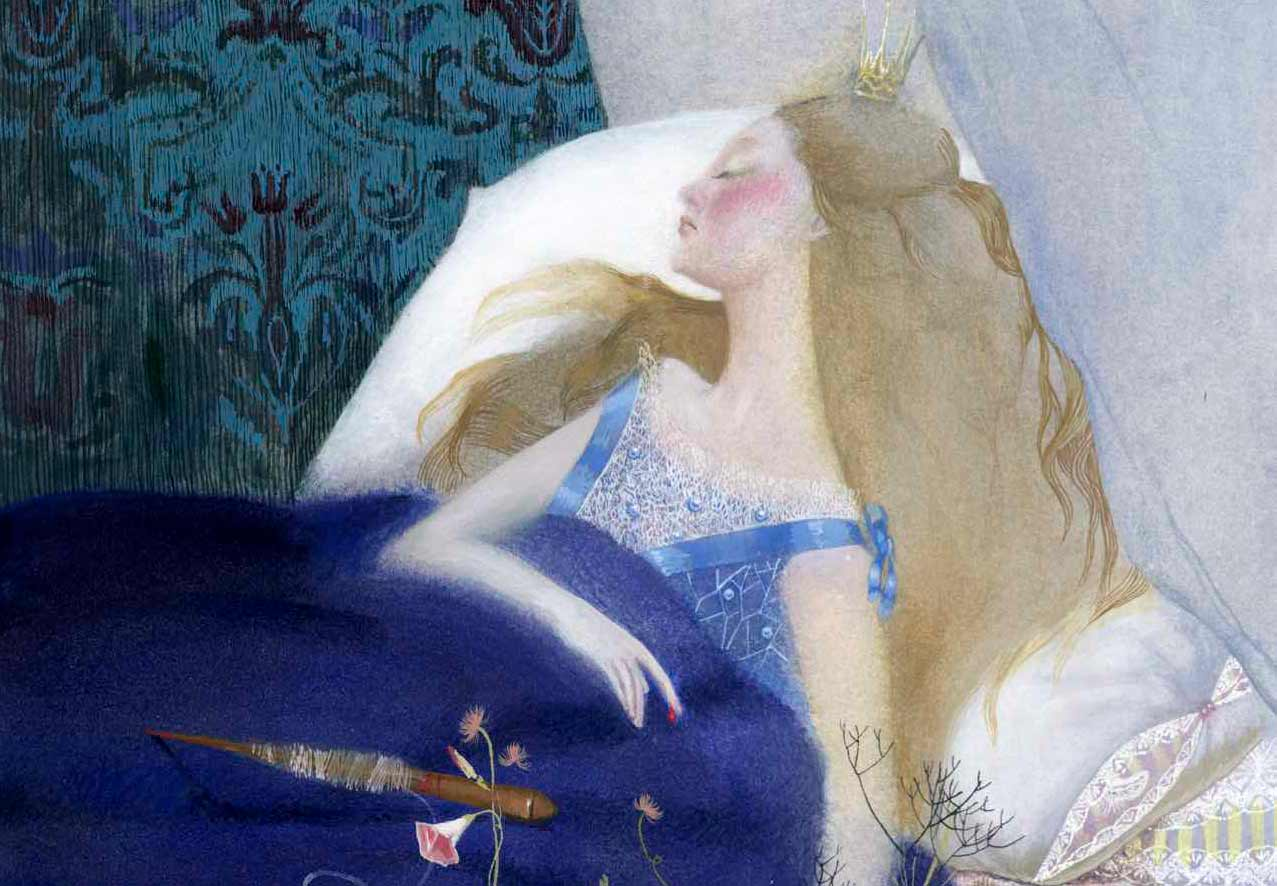 Nadezhda Illarionova beautiful illustration art of a princess sleeping