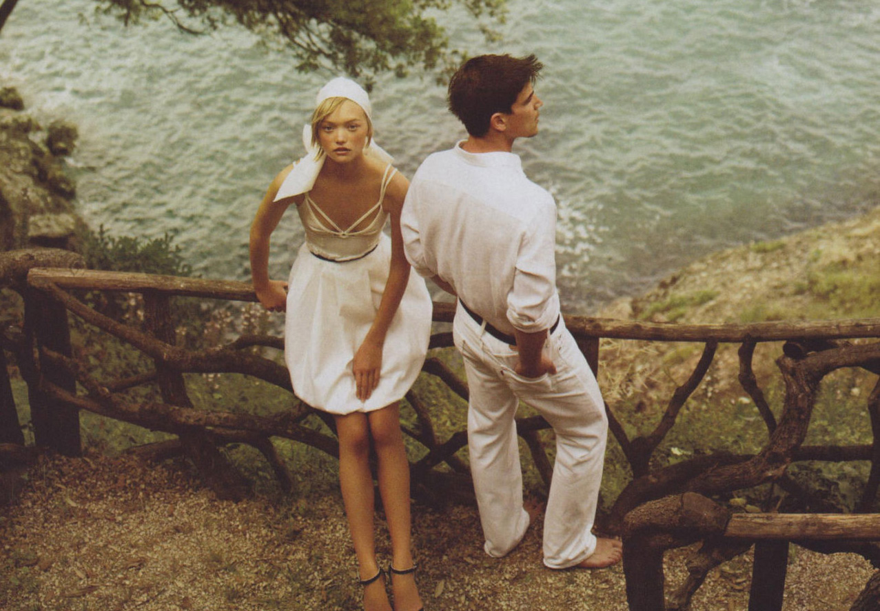 Josh Hartnett  and Gemma Ward in Mario Testino fashion editorial for vogue