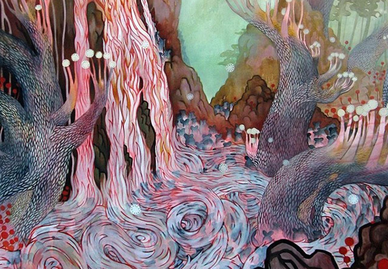 Artist Rick Leong vibrant colorful and magical river lagoon.