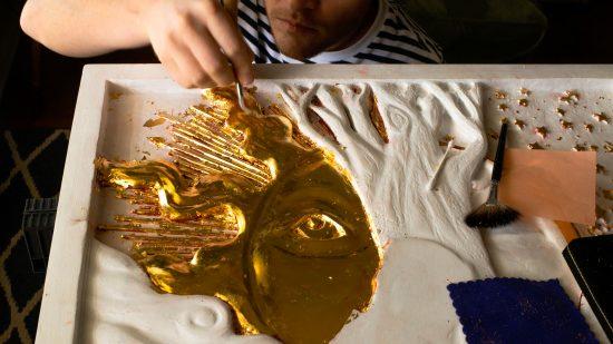 Water Gilding – 24k Gold Leaf